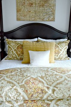Layering Bedding Like A Designer. tips and tricks will help create a beautiful bed and bedroom. A few designer tips will give any bed that wow factor Bedding Master Bedroom, Teen Bedding, Bedroom Decor, Bedroom Black, Bedroom Ideas, Gray Bedding, Bedding Decor, Bedding Sets Online, Luxury Bedding Sets