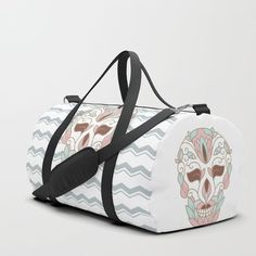 5e46638f8e7 DAY OF DEAD Duffle Bag #society6 #skulls #gothic #homedecor #skull  #darkness #totebag #dufflebag #bag #buyart #bags #sugarskull #mexico  #pastels