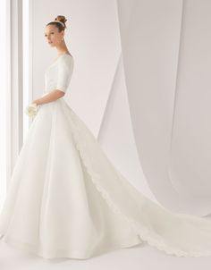 , detachable train wedding dress 2012