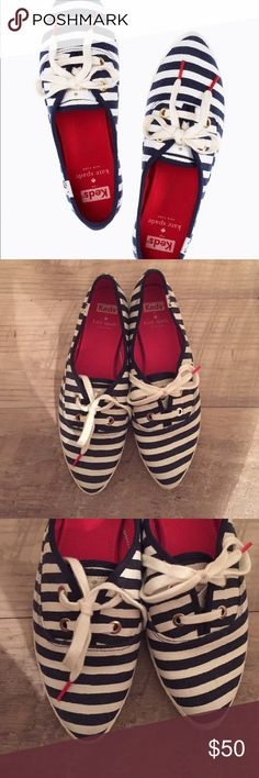 Keds for Kate Spade New York pointer blue stripe 9 Super cute shoes! keds for kate spade Shoes Sneakers