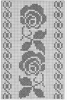 Kira scheme crochet: Scheme crochet no.Wide floral tape or oblong tableclothSchema Fascia rose Ciao a tutti ripetendo il motivo queFilet crochet by ornah kaye – ArtofitThis Pin was discovered by Kam - Salvabrani - Salvabrani Crochet Patterns Filet, Crochet Borders, Crochet Diagram, Doily Patterns, Loom Patterns, Crochet Designs, Free Crochet, Cross Stitch Borders, Cross Stitch Flowers