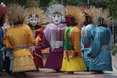 Ondel-ondel perform in Taman Menteng, Jakarta on January 11, 2013. As part of a traditional Betawi performance, ondel-ondel often appear in folk festivals | © Safir Makki | Jakarta Globe
