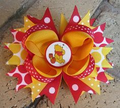 Winnie the Pooh Disney World Vacation Boutique Hair Bow Costume