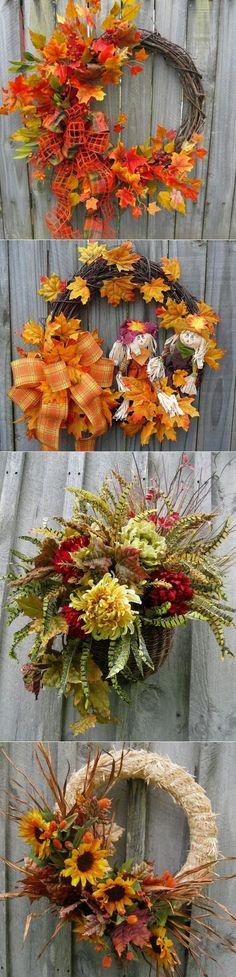 Осенние венки. Декор дверей и стен дома