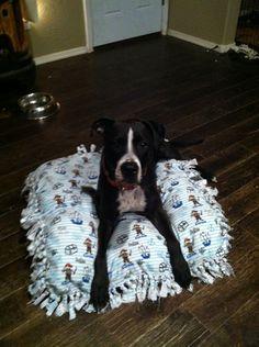 Homemade dog beds. handmade crafts. Adorabully