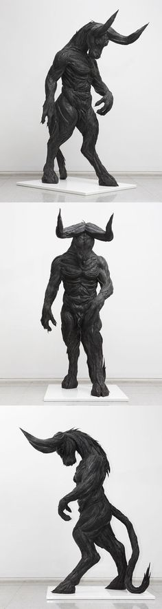 Minotaur made out of old tires. Holy hell, thats badass!!!