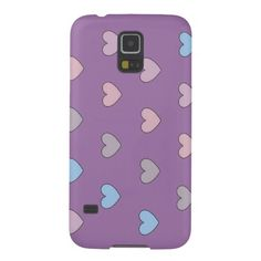 Multiple hearts #purple Samsung Galaxy S5 #case by ArianeC from iCraftCafé . #smartphonecover #smartphonecase #heartpattern