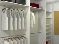 Dormitório de solteiro com closet