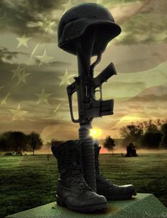 pics of fallen troops | Fallen Soldiers Memorial Greeting Card