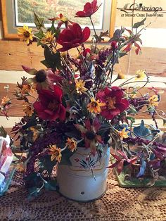 Flour sifter arrangement | from Gatherings at Muncy Creek BarnWorks