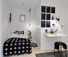 Zwart en wit #tienerkamer | Black and white #teen room