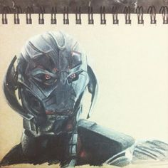 Ultron from Avengers: Age of Ultron done with Prismacolors!