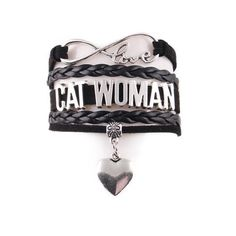 """Handcrafted Leather """"Cat Woman"""" Bracelet #CatWoman"""