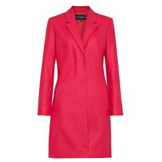 French Connection Platform Felt Fitted Coat $348 at French Connection