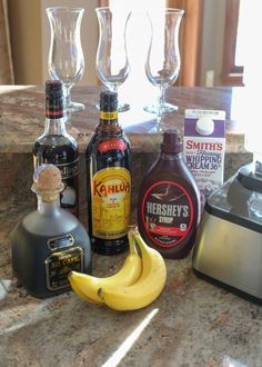 frozen banana recipes Dirty Banana Recipe Ingredients - get the full recipe at Banana Rum Recipes, Dirty Banana Recipe, Milk Recipes, Healthy Dessert Recipes, Desserts, Party Food And Drinks, Fun Drinks, Yummy Drinks, Cocktail Drinks