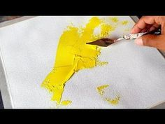 (587) How to make Easy Abstract Painting in Acrylics / Demonstration - YouTube