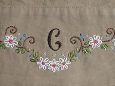 Monogram Pillowcase by sara ~~ thesplitstitch, via Flickr