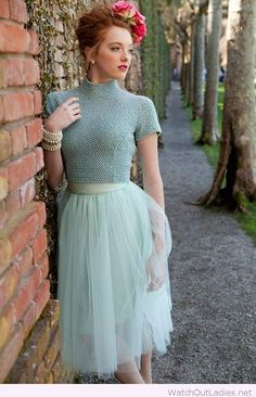 Mint tulle, love the lady look style