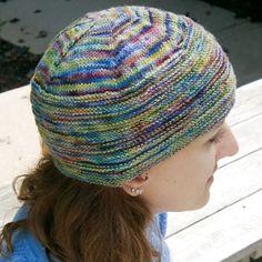 Rib Cap, knit with Koigu KPPPM yarn