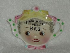 Vintage tea bag holder
