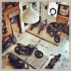 Workshop and the bikes, same spirit_wrenchmonkees