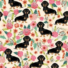 Dachshund print. On my current phone case!