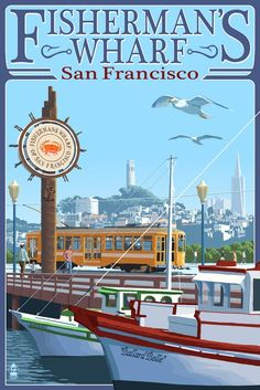San Francisco | Fisherman's Wharf with Coit Tower in the background