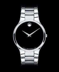 Movado Watch, Men's Swiss Serio Stainless Steel Bracelet 38mm 0606382 - Movado - Jewelry & Watches - Macy's