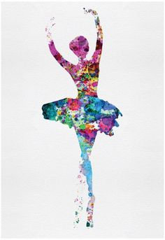 Ballerina Watercolor 1 Poster by Irina March 13 x 19in
