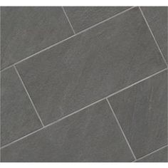 Shop Style Selections Galvano Charcoal Porcelain Granite Floor and Wall Tile (Common: 12-in x 24-in; Actual: 11.85-in x 23.85-in) at Lowes.com