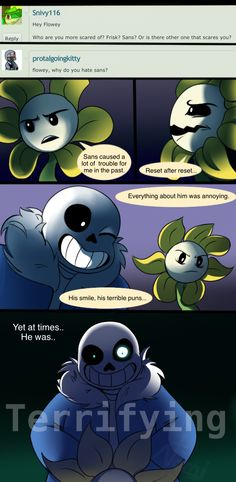 Ask#4-Flowey by KillorHaveaBadTime on DeviantArt