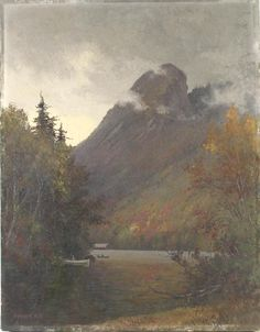 """Profile Lake,"" Edward Hill, ca. 1885, oil on canvas, 18 x 14"", New Hampshire Historical Society."