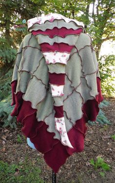 Recycled Cashmere Sweater Poncho & Arm Warmers by SewFreakinHappy