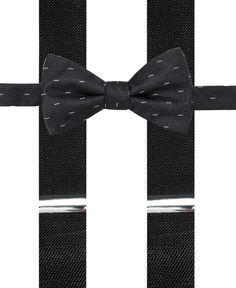 Alfani Black Bow Tie and Suspender Set, Only at Macy's