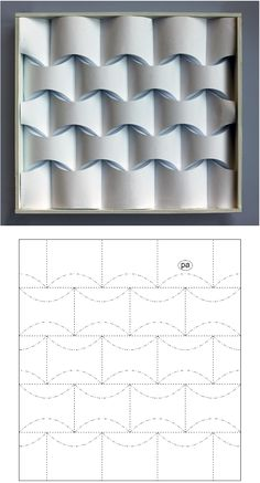 Reconstructing David Huffman's Legacy in Curved-Crease Folding Origami Wall Art, Origami And Kirigami, Paper Crafts Origami, Origami Templates, Box Templates, Paper Folding Designs, Paper Design, Geometric Origami, Origami Design