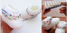 Take a few moments to learn how to make beaded baby shoes and give a cute booty for your baby and children. Baby Knitting Patterns, Baby Patterns, Crochet Patterns, Crochet Baby Booties, Crochet Slippers, Baby Bootees, Baby Blog, Kids And Parenting, Weaving