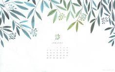 January 2014 Desktop Calendar by Oana Befort