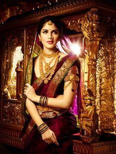 Traditional indian marathi bride jewellery