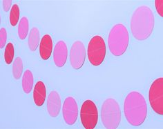 Ombre Pink Garland, Pink Party Decorations, Baby Shower Decorations, Bridal Shower Decorations, First Birthday Decorations, Pink Garlands
