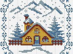 Зимние домики: 29 схем для вышивки крестом | Ярмарка Мастеров - ручная работа, handmade