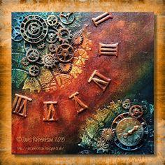 Jools Robertson: Clocks Canvas