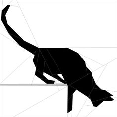 "Silhouette Cat #9 10""(26 cm) Paper Pieced patterns quiltartdesigns.blogspot.com"
