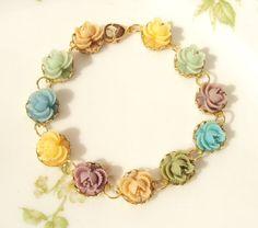 Bloom  Flower Bracelet by NestingPretty on Etsy, $26.00