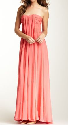 Coral maxi gown / Halston Heritage