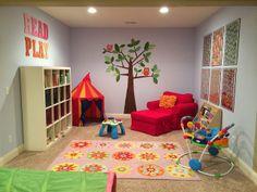 basement playroom.