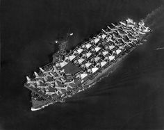 Dorie Miller lost his life when the escort carrier Liscome Bay was torpedoed in the Gilbert Islands on November 23, 1943. This photo of the Liscome Bay was taken two months before and shows the carrier with its decks full of Douglas SBD Dauntless dive bombers and Grumman TBF Avenger torpedo planes.