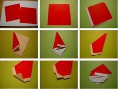 Origami Mos Craciun.