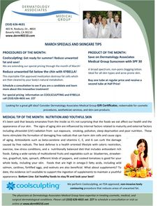March 2016 Newsletter: Nutrition and Youthful Skin
