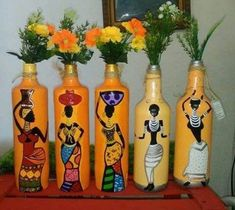54 trendy craft recycled wine corks craft is part of Bottles decoration - Wine Bottle Art, Plastic Bottle Crafts, Diy Bottle, Wine Bottle Crafts, Painted Glass Bottles, Decorated Bottles, Recycled Wine Corks, Pottery Painting Designs, Wine Cork Crafts