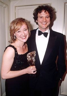 Colin Firth & Jennifer Ehle - Jennifer Ehle wins the 1996 BAFTA award for Best Actress in a TV show for her performance as Elizabeth Bennet in Pride and Prejudice (BBC, She's a blondie in real life! I never knew. Colin Firth, Bbc, Jennifer Ehle, Becoming Jane, Jane Austen Books, Elizabeth Bennet, Mr Darcy, Bridget Jones, Cinema